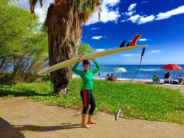 Liz Surfs Maui - How to Surf Alone