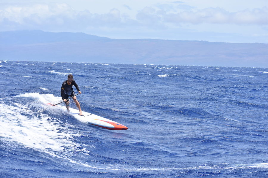 josh riccio maui downwind paddle racer